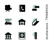 square icons. vector collection ...