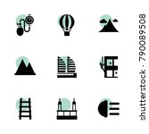 high icons. vector collection...