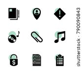 note icons. vector collection...