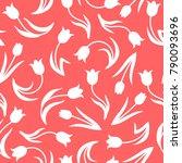 vector illustrations of tulips... | Shutterstock .eps vector #790093696