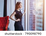 well off attractive woman... | Shutterstock . vector #790098790