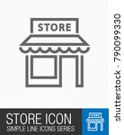 store icon  shopping symbol   Shutterstock .eps vector #790099330