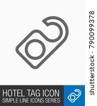 hotel or motel tag icon ... | Shutterstock .eps vector #790099378