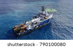 oil and gas field survey boat | Shutterstock . vector #790100080