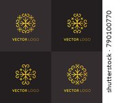 vector icon style logo sign set ... | Shutterstock .eps vector #790100770
