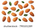 almonds isolated on white... | Shutterstock . vector #790101289