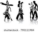 beautiful hi detailed figures...   Shutterstock .eps vector #790111984