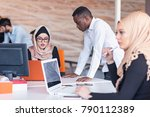 young business people working... | Shutterstock . vector #790112389