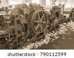 old 1900s woolen mill machinery ... | Shutterstock . vector #790112599