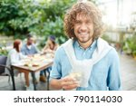 happy guy with toothy smile... | Shutterstock . vector #790114030