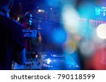 dj performs in a nightclub at a ... | Shutterstock . vector #790118599