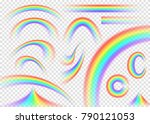 rainbow set isolated on... | Shutterstock .eps vector #790121053
