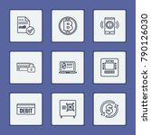 finance icons set with credit ...