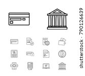 finance icons set with...