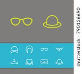 wear icons set with fedora ...