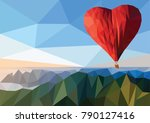 concept of valentines day. hot... | Shutterstock .eps vector #790127416
