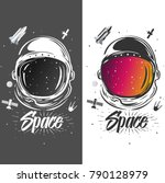 astronaut suit art. space... | Shutterstock .eps vector #790128979