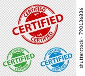 rubber stamp seal certified  ... | Shutterstock .eps vector #790136836