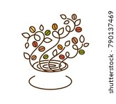 coffee tree logo ornament decor | Shutterstock .eps vector #790137469