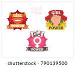 girl power graphic vector badge ... | Shutterstock .eps vector #790139500