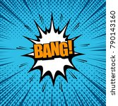 comic book page with bang... | Shutterstock .eps vector #790143160