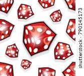 seamless pattern of vector dice ... | Shutterstock .eps vector #790145173