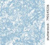seamless hand drawn  flower... | Shutterstock .eps vector #790145236