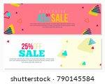 vintage style vector banner... | Shutterstock .eps vector #790145584