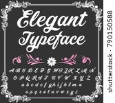 vector set of handwritten abc... | Shutterstock .eps vector #790150588