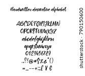 decorative calligraphic... | Shutterstock .eps vector #790150600