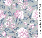 floral seamless pattern.... | Shutterstock .eps vector #790152349