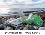 marine pollution  plastic waste ... | Shutterstock . vector #790152448