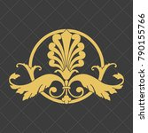 vintage baroque ornament. retro ... | Shutterstock .eps vector #790155766