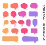 various multicolored speech... | Shutterstock .eps vector #790155823