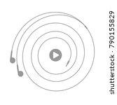 earphones symbol with play...   Shutterstock .eps vector #790155829