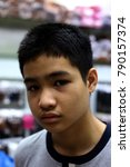 close up face skin boy asia. | Shutterstock . vector #790157374