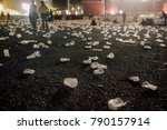 festival field at night after... | Shutterstock . vector #790157914