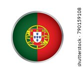 flag of portugal  round icon | Shutterstock .eps vector #790159108