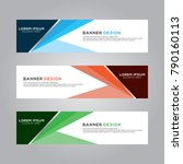 abstract banner background... | Shutterstock .eps vector #790160113