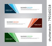abstract banner background... | Shutterstock .eps vector #790160218