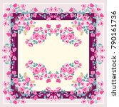 colorful beautiful shawl  scarf ... | Shutterstock .eps vector #790161736