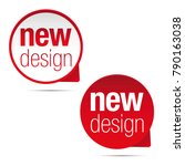 new design label tag sticker | Shutterstock .eps vector #790163038