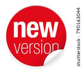 new version label tag red | Shutterstock .eps vector #790163044
