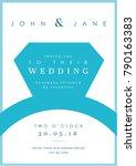 blue ring theme   wedding set   ... | Shutterstock .eps vector #790163383