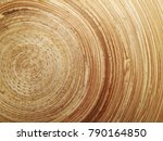 wooden plate with texture... | Shutterstock . vector #790164850