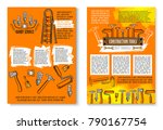 handy service posters of work...   Shutterstock .eps vector #790167754