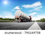 rear view of big metal fuel... | Shutterstock . vector #790169758