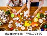 top view of handmade easter... | Shutterstock . vector #790171690