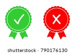 green and red approved and... | Shutterstock .eps vector #790176130