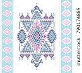 geometric aztec pattern. tribal ... | Shutterstock .eps vector #790176889